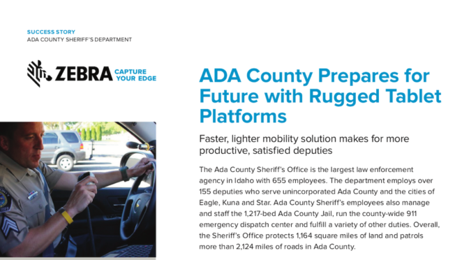 Ada County Prepares for Future with Rugged Tablet Platforms