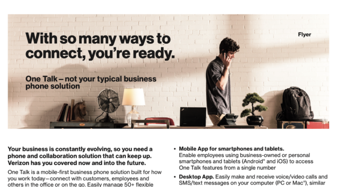 One Talk – not your typical business phone solution